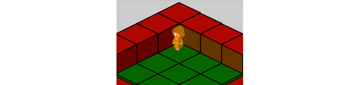 Hero standing on the corner tile