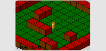 Isometric level with 12x12 visible area