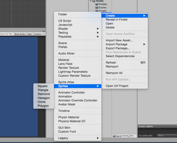 How to create sprites within United 20171