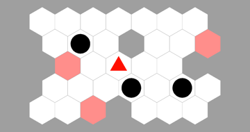 hexagonal sokoban level