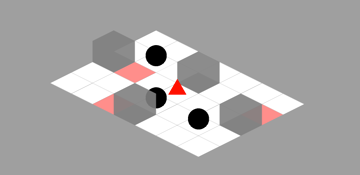 the isometric version of the sokoban level