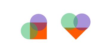 heart shape combining primitive shapes