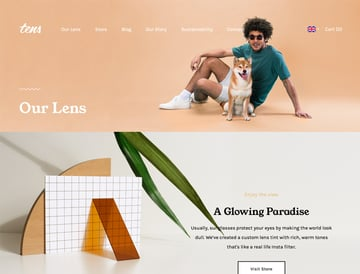 Tens Sunglasses website
