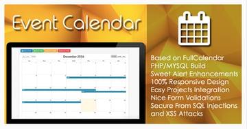 Event Calendar - PHPMYSQL Plugin