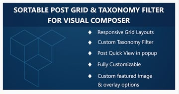 Visual Composer - Sortable Grid Taxonomy Filter