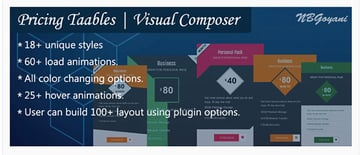 Visual Composer Pricing Tables By NBGoyani