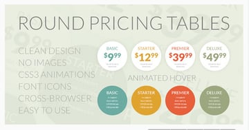 Round Pricing Table