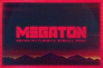 Megaton Stencil Font Designs