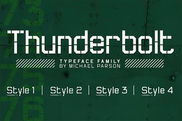 Thunderbolt Stencil Type Fonts