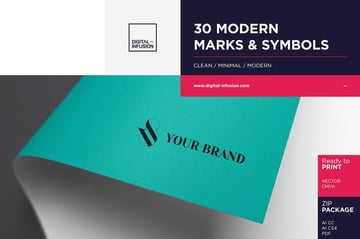 30 Modern Marks Symbols