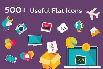 527 Useful Flat Icons