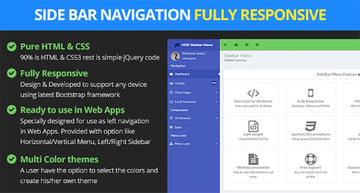 Responsive Bootstrap Sidebar Navigation