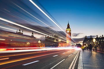 Traffic Trails and Big Ben