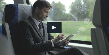 Businessman Travel with Train