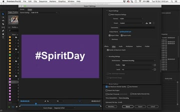 The finished SpiritDay video