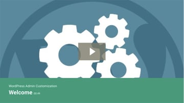 WordPress Admin Customization