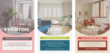 House Cleaning Service Flyer Maker