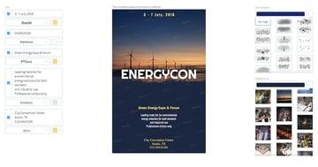 Flyer Maker for Green Energy Conferences