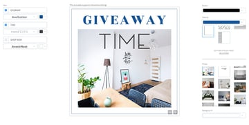 Ad Banner Template for Furniture Store Giveaway