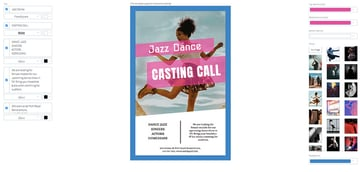 Casting Flyer for Dance Auditions