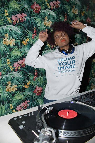 Hoodie Mockup of a Cool DJ