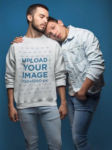 Sweatshirt Mockup with Couple