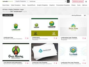 Landscape Company Logo Designs