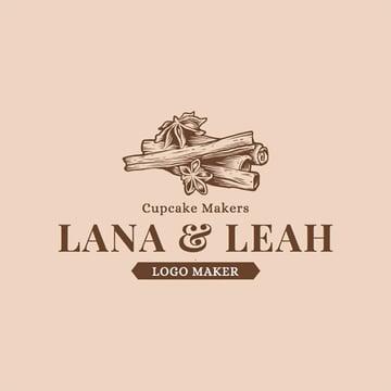 Bakery Logo Maker with Cupcake Theme