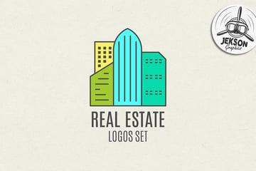 Commercial Real Estate Logo Inspiration Set