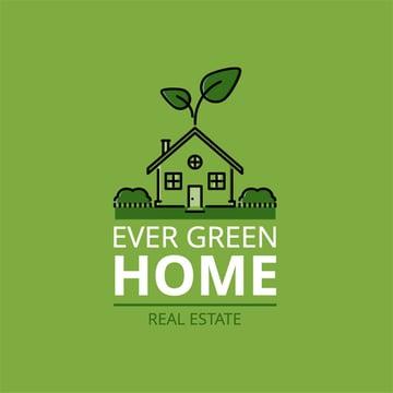 Ecohouse Cool Agency Logo Design Real Estate