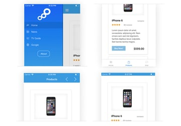 Web2App for IOS iPhone Web Design Template