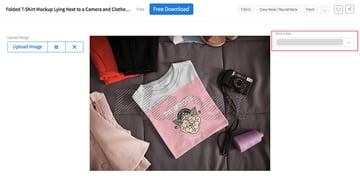 Select a t-shirt colour to match your design