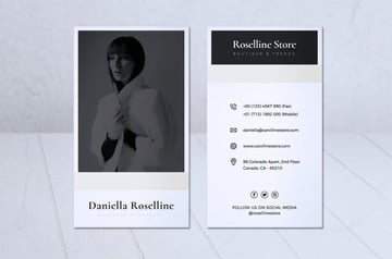 Modern Minimalist Business Card Vol 05 by RahardiCreative
