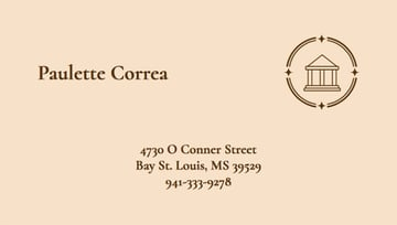 Business Card Design Template with Law Graphics
