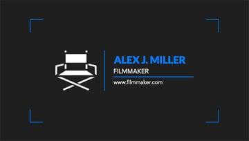 Business Card Maker for Film Studio Business Cards