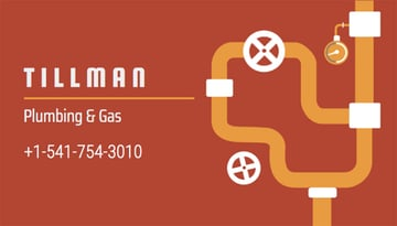 Business Card Template for Plumbing and Gas Services