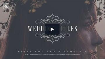 Wedding Titles - FCPX