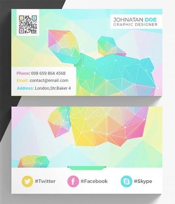 Colourful Creative Business Card Template