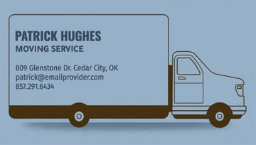 Removalist Business Card Template With Truck Graphics