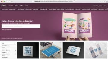 Placeit Brochure Mockup
