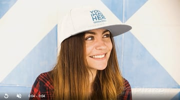Young White Woman Wearing A Hat Takes It Off Stop Motion Mockup