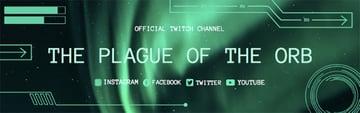 Twitch Banner Creator with Aurora Borealis Background
