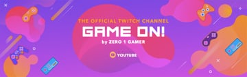 Twitch Banner Template with Video Game Background