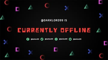 Twitch Offline Banner Design Template with Gaming Symbols