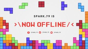 Twitch Offline Banner Generator with Tetris Clipart