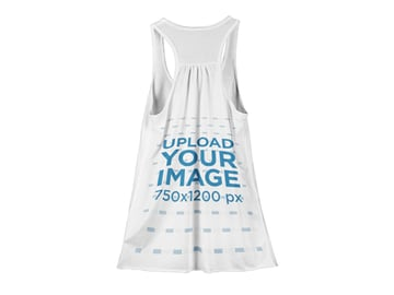 Mockup of the Back of a Womens Tank Top Against a Flat Backdrop