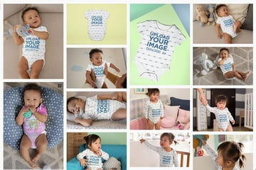 Select a Baby Onesie Mockup Template You Like