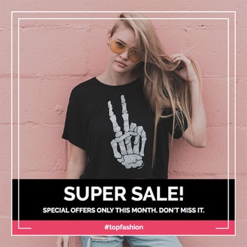 Edgy Instagram Post Creator for Fashion Sales
