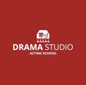 Custom Logo Maker for Drama Schools with Theatre Icons