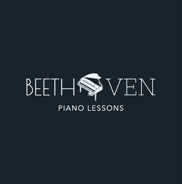 Custom Logo Maker for School with Piano Lessons